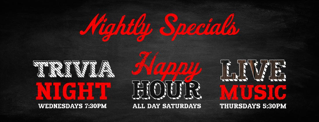 Nightly Specials at ShortE's